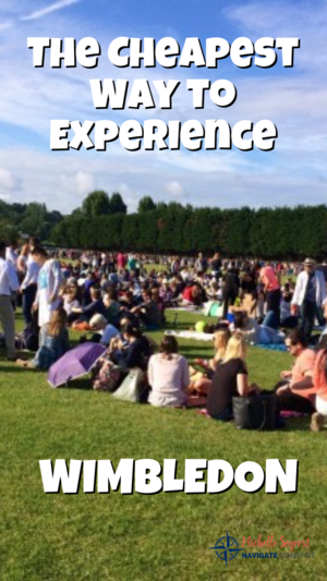 Experience Wimbledon on the cheap by sitting through the Wimbledon Queue. This article shows you how to navigate and survive the Wimbledon Queue and score super cheap tickets to the world famous All-England Lawn and Tennis Club for Wimbledon. #wimbledon #cheaptickets #tennis #travel #bucketist