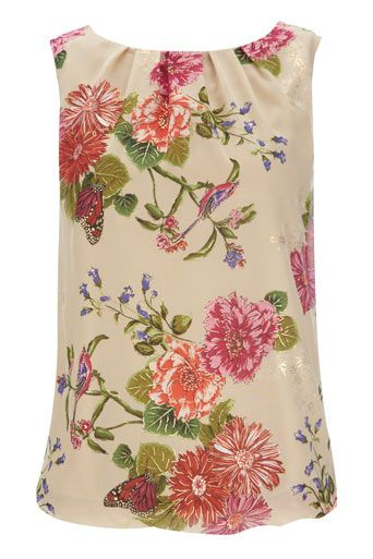 Stone Floral Bubble Blouson. Wear this top day or night with slim fit trousers and embellished sandals. £30.00