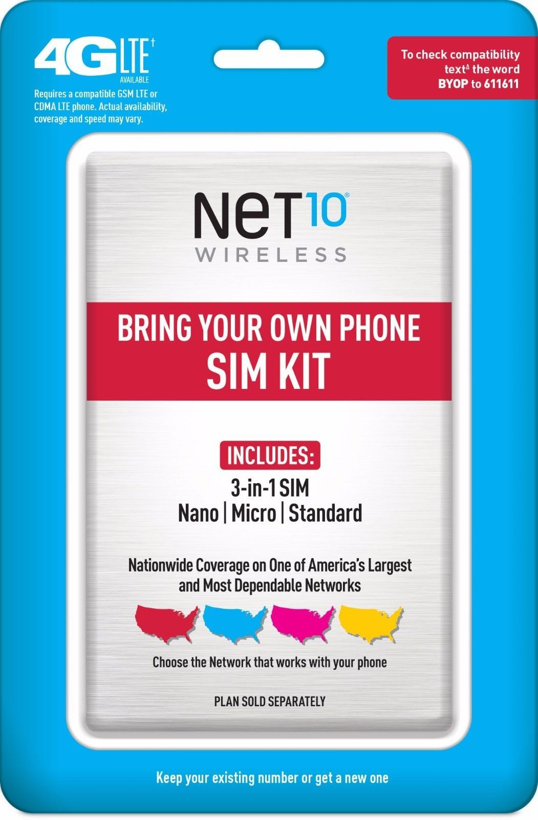 Net10 bring your own phone sim activation kit retail