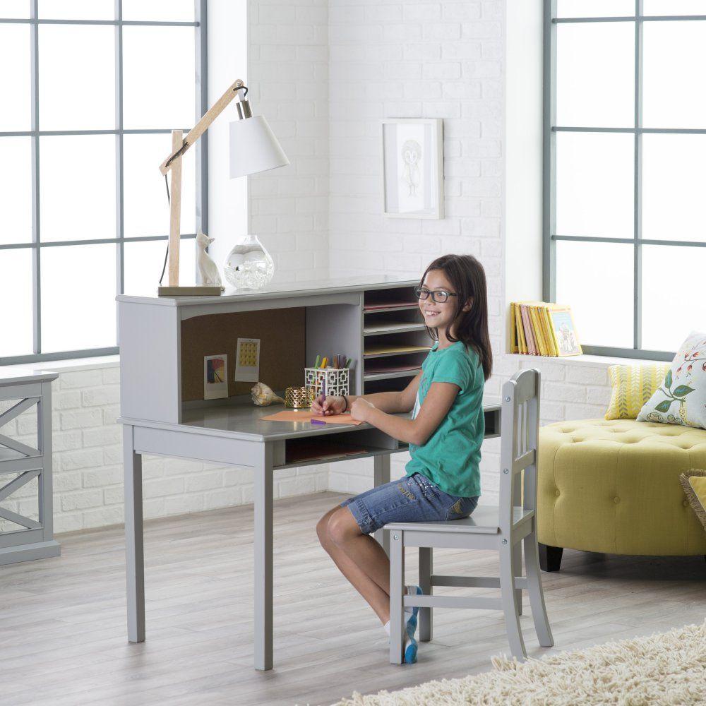 Guidecraft Media Desk Chair Set Gray Www Hayneedle Com Desk And Chair Set Chair Set Desk Chair