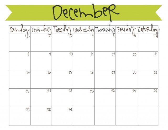 December 2013 Calendar Free Printable Free Printable Calendar