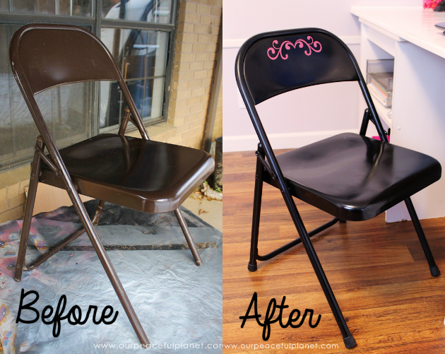 Weu0027ll Show You How To Easily Do A Folding Chair Makeover With Some Spray  Paint And Vinyl Labels For A Classy, Quick And Inexpensive Addition To Any  Room!