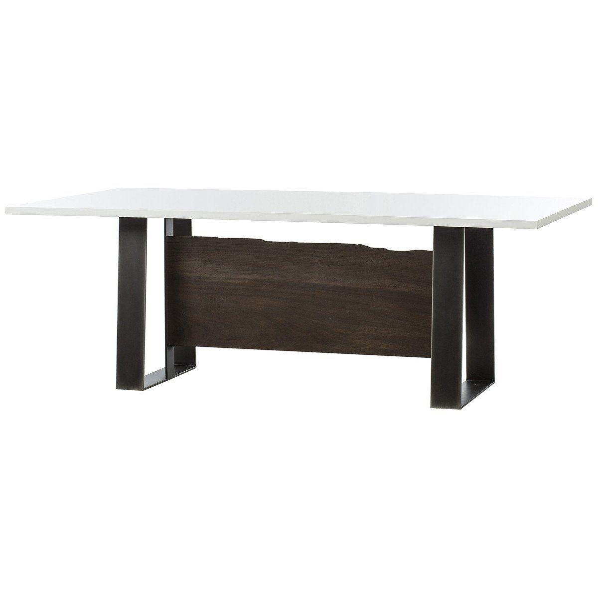 Thomas Bina Jordan Dining Table White Acrylic