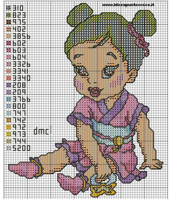 SCHEMA BABY MULAN PUNTO CROCE by syra1974.deviantart.com on @DeviantArt