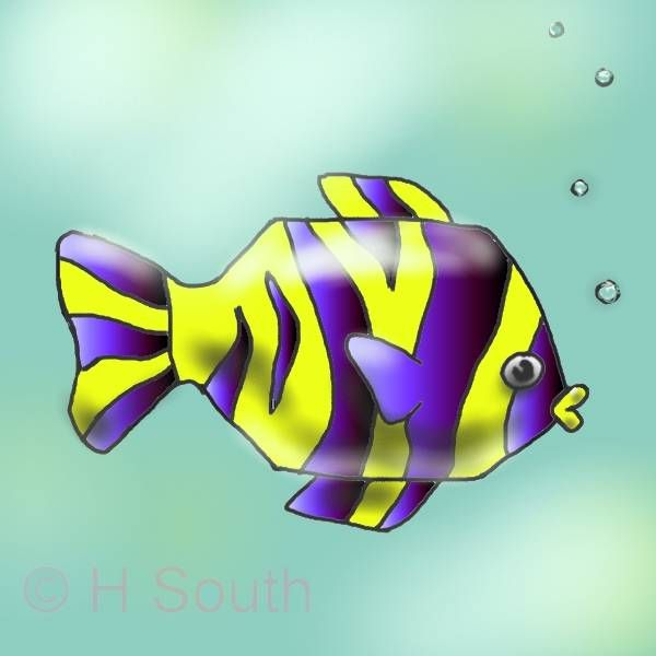 You can draw a colorful cartoon fish in 5 easy steps for Easy pet fish