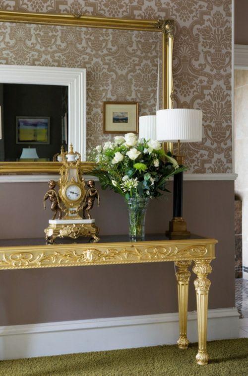 Elegant Moderne Dekoration Trends Blattgold Und Neobarock