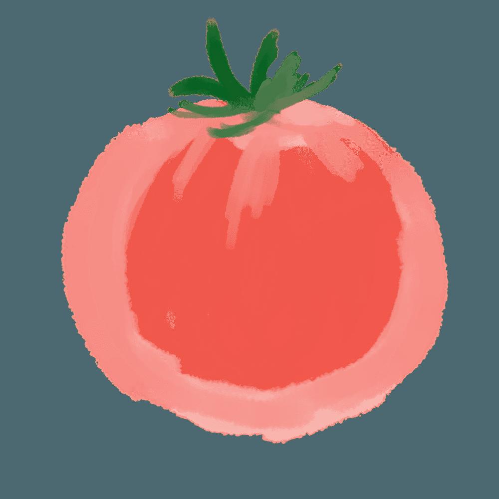 トマトのイラスト キャラ おしゃれで可愛い無料素材 トマト