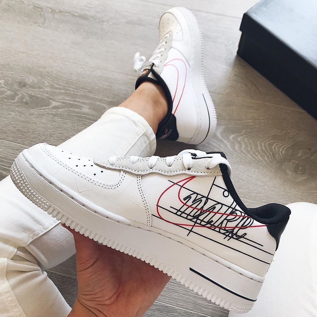 "Nike Air Force 1 ""Script Swoosh"" link in organic to shop"