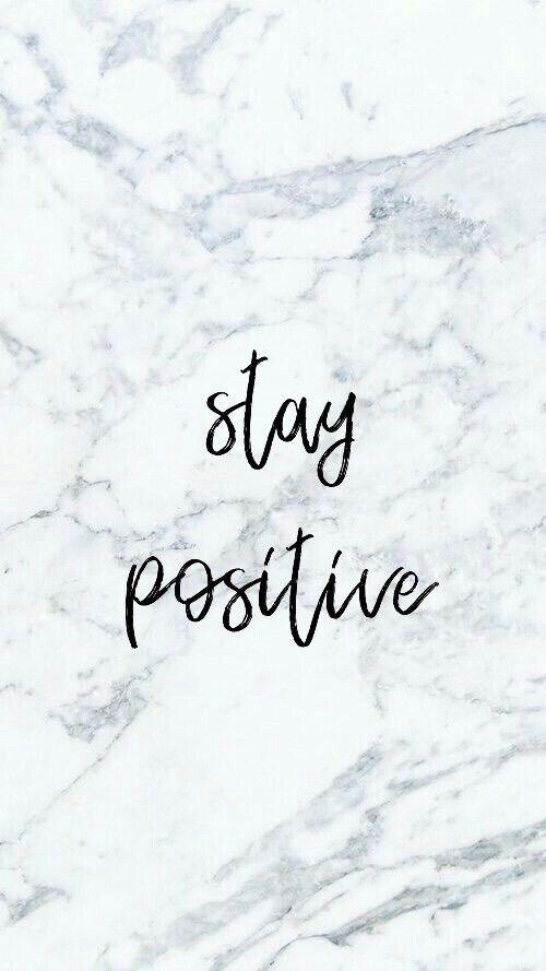 Stay Positive Quote Lockscreen Wallpaper