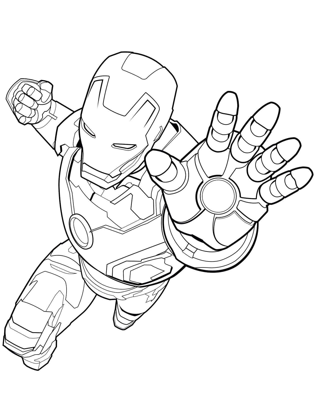 coloring pages Iron man Superhero coloring pages