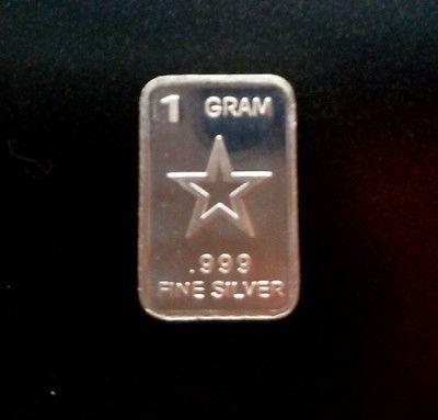 1 Gram Silver Bar 999 99 9 Fine Pure Solid Silver Bar Star With Images Silver Bullion Silver Bars Silver