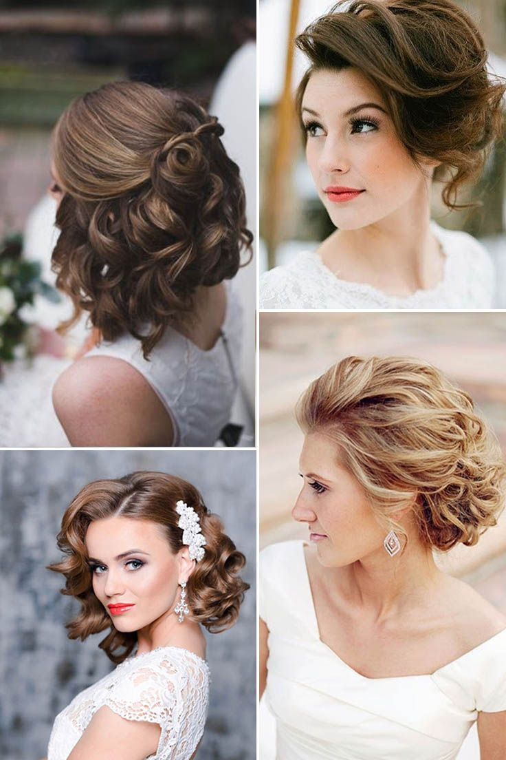 48 Trendiest Short Wedding Hairstyle Ideas Wedding Forward Short Wedding Hair Hair Styles Wedding Hairstyles For Long Hair