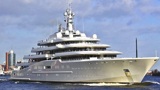 The Eclipse Is The Largest And Most Expensive Private Yacht In The