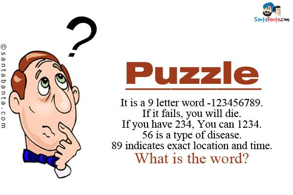 It Is A 9 Letter Word 123456789br If Fails You Will Diebr Have 234 Can 1234br 56 Type Of Diseasebr 89 Indicates Exact