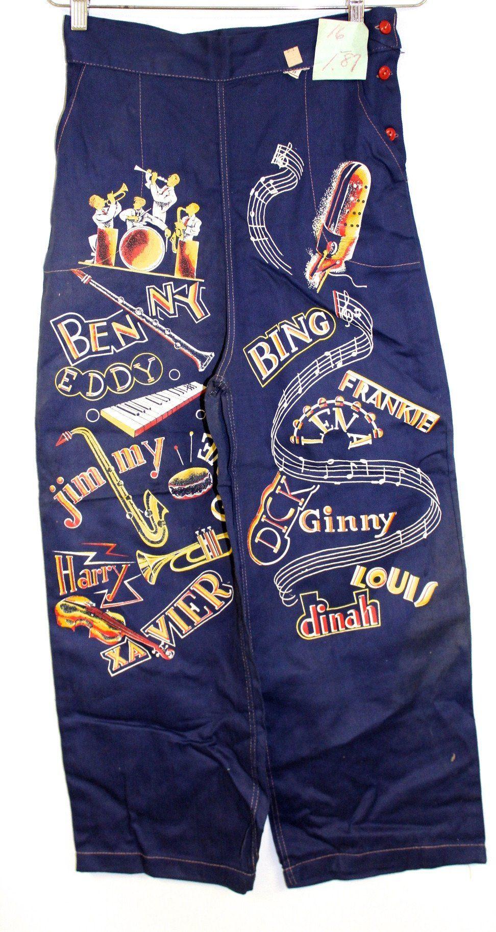 RARE VTG Womens Girls Jeans Pants 1940s Deadstock Amazing