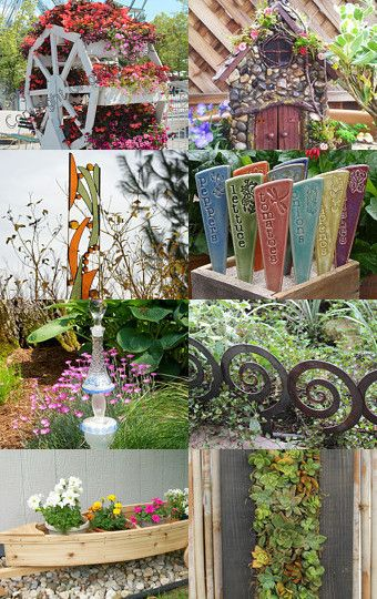 Spring Garden Decor Ideas! Yard Art And Outdoor Garden Accessories And  Accents.