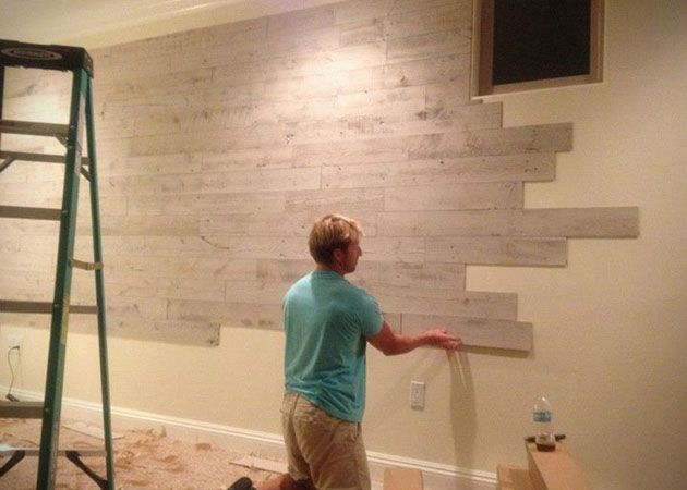 Stikwood Adhesive Wood Wall Planks...beautiful & Easy