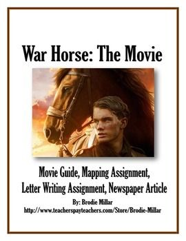 War Horse  Movie Guide Map Assignment Letter And Newspaper