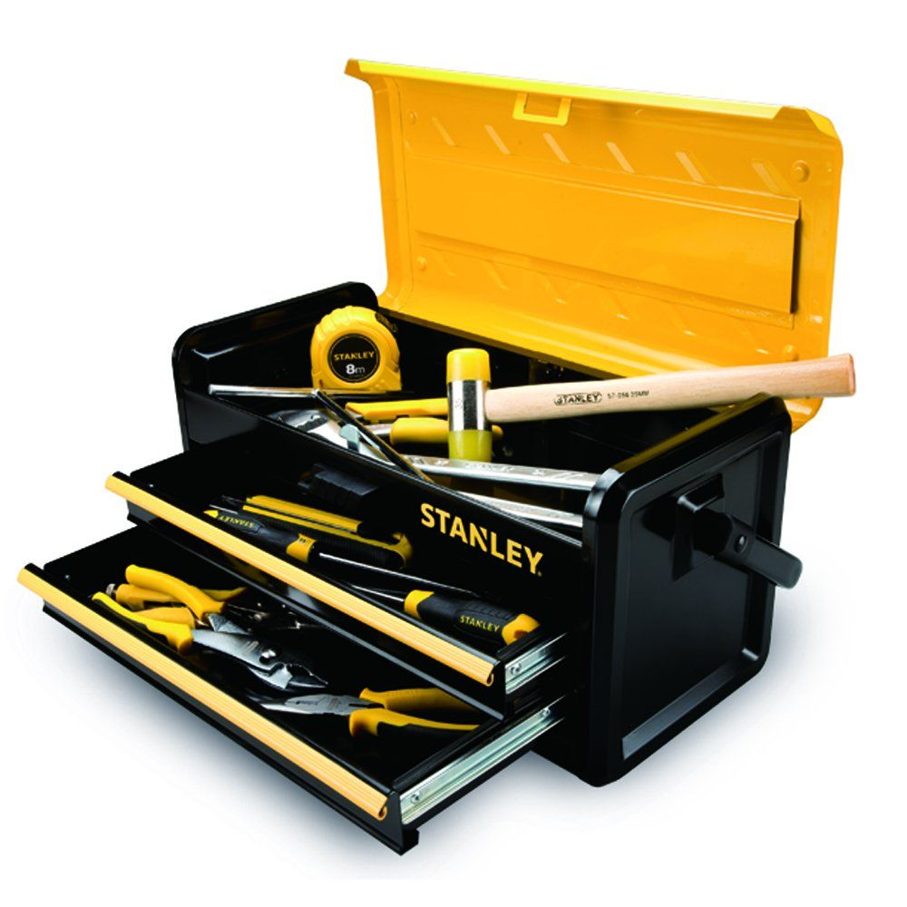 Stanley Gereedschapskoffer Stanley Tools And Consumer Storage Stst19502 Metal Box With 2