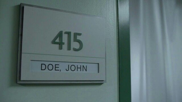 I don't know his name and neither does he. The door says John Doe. I refuse to call him that and he refuses to call me Jane. So I started calling him Moses cause I told him he was going to lead us all out of here one day. He then reminded me that Moses never saw the promised land. Now I call him Aaron. (RW)