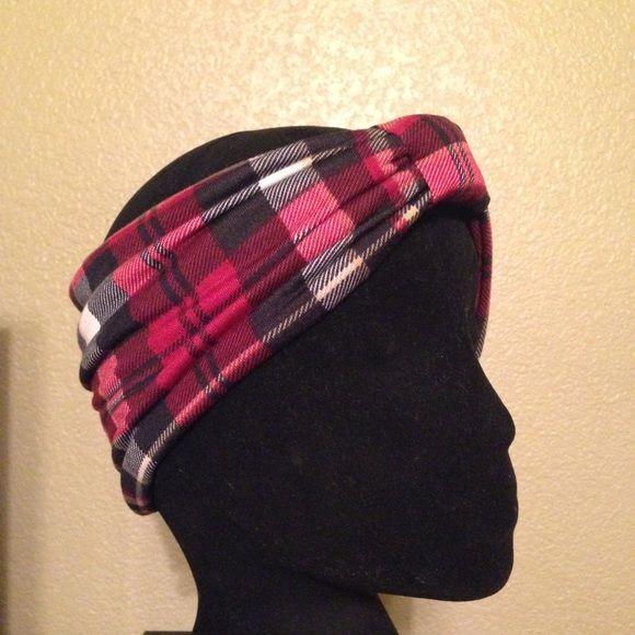 "Selling this ""Plaid turban headband"" in my Poshmark closet! My username is: missfancy25. #shopmycloset #poshmark #fashion #shopping #style #forsale #Handmade #Accessories"