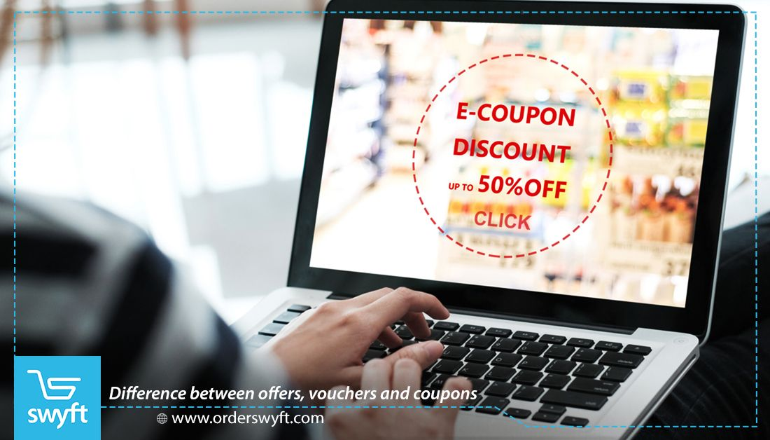 Difference Between Offers Vouchers And Coupons Snack Delivery Delivery App E Coupons