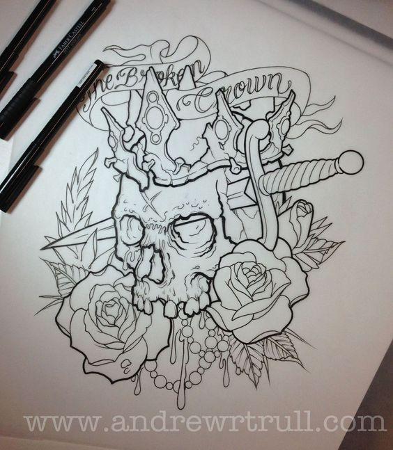 Imagenes De Calaveras Para Dibujar A Lapiz Patrones De Tatuajes Diseno De Tatuaje De Calavera Tatuaje Personalizado