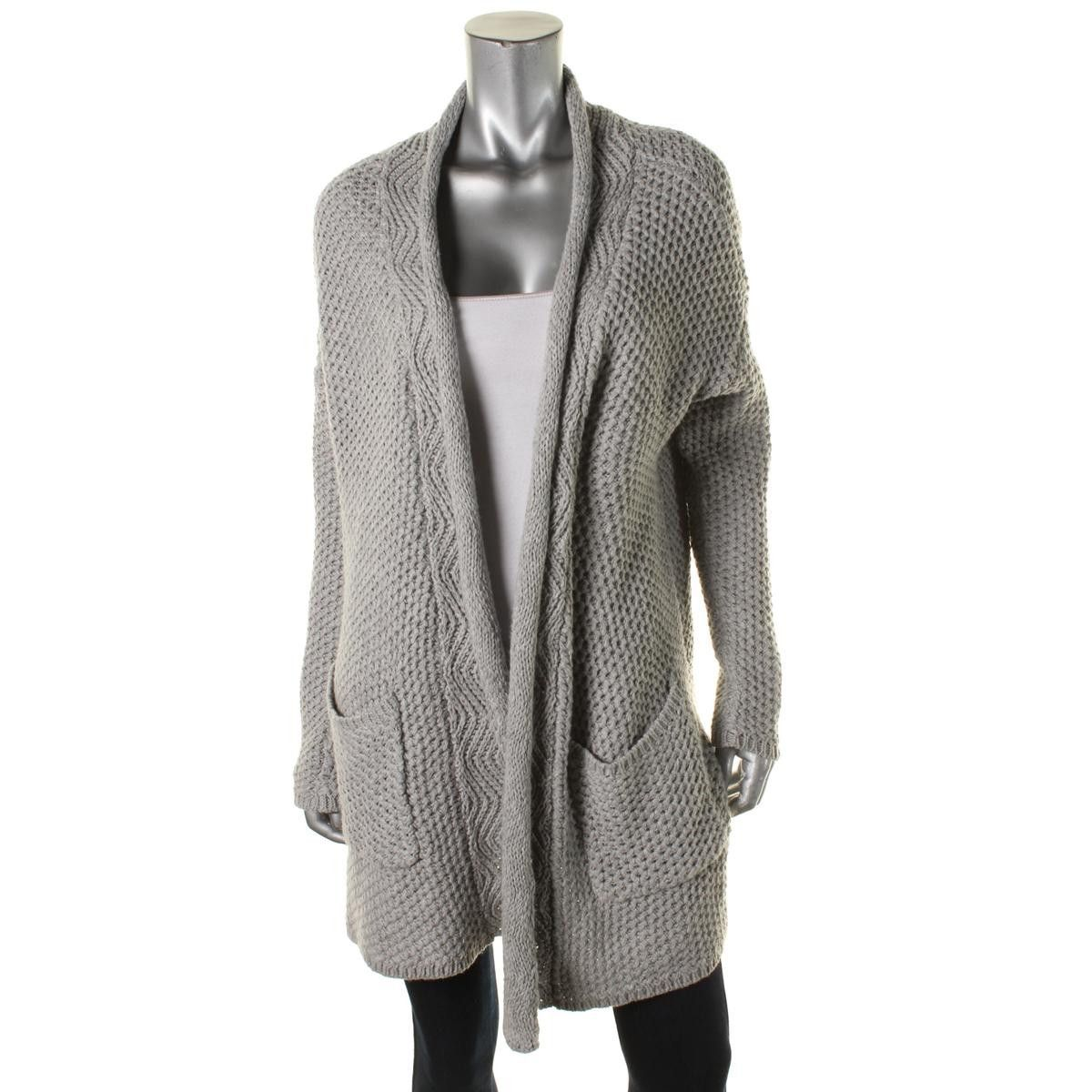 Chelsea28 Womens Knit Woven Cardigan Sweater