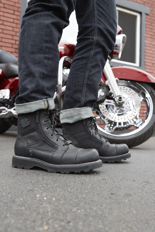 7d9f3b29548 Moto inspiration revs up the men's leather Bonham riding boot ...