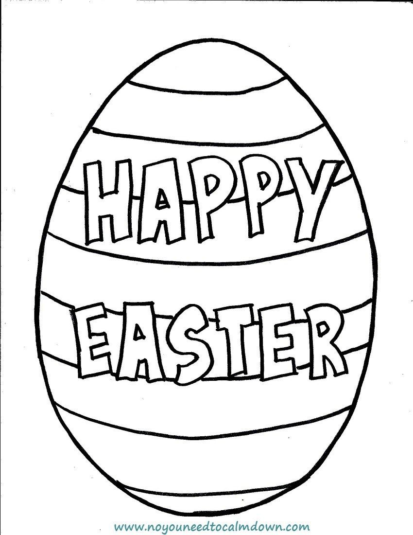 Happy Easter Egg Coloring Page For Kids Free Printable Easter