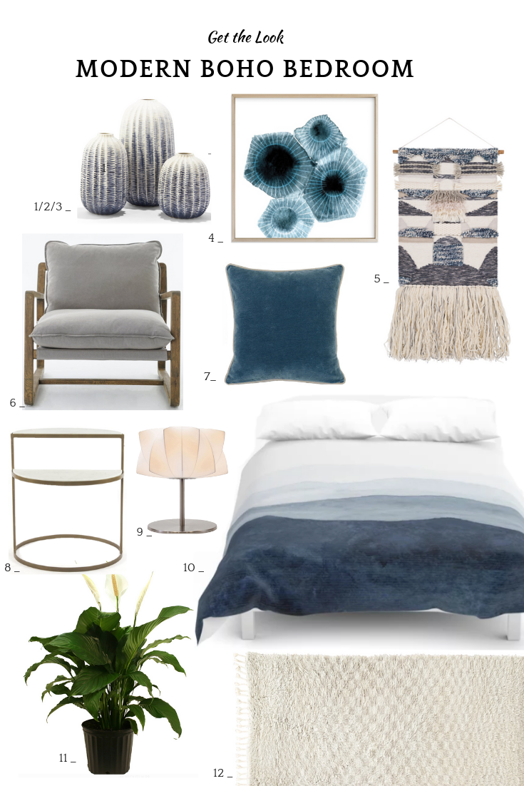 12 Modern Boho Bedroom Ideas Inspiration For A Modern Boho Bedroom Sanctuary With Cool And Calm Modern Boho Bedroom Blue Bedroom Decor Neutral Bedroom Decor