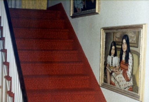 The First Floor Staircase With The Defeo Portraits Amityville