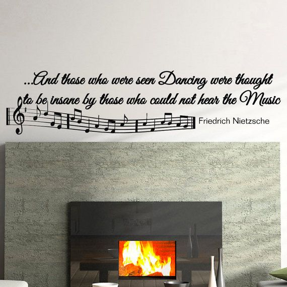 Music Wall Decal Quote  Vinyl Lettering Music by FabWallDecals