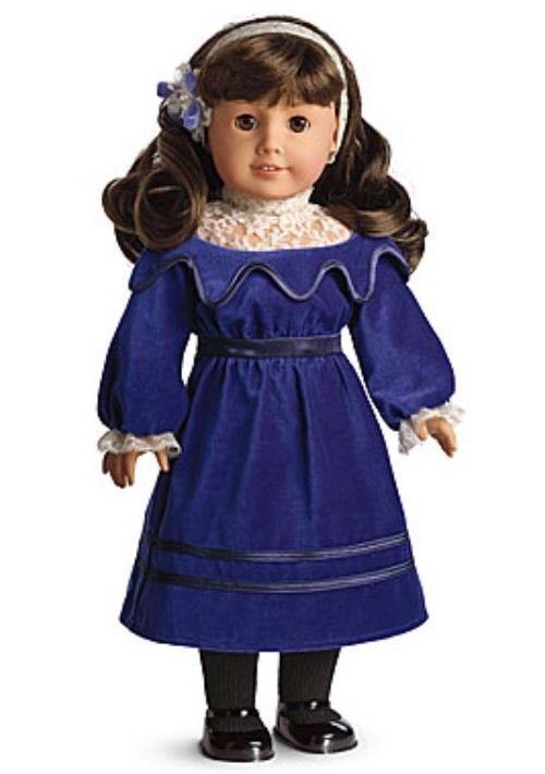 American girl blue velvet dress