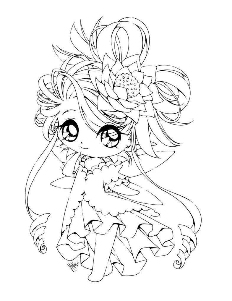 - The Lotus Princess... By *sureya On DeviantART Chibi Coloring