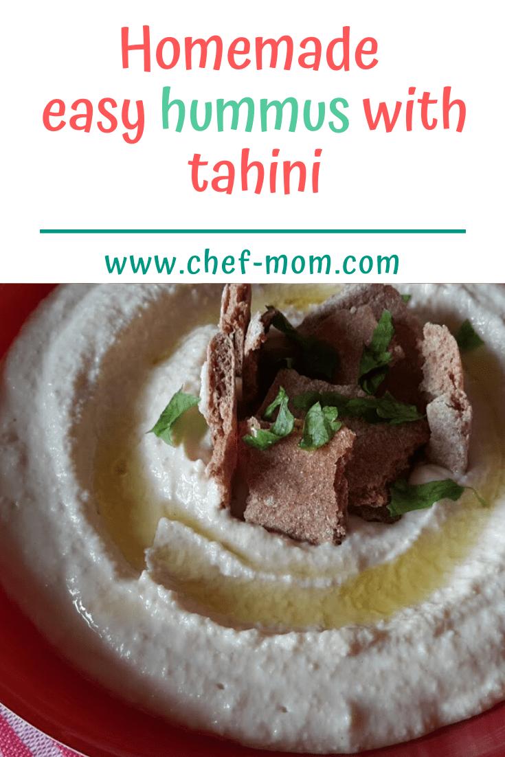 homemade easy hummus with tahini  recipe  food recipes