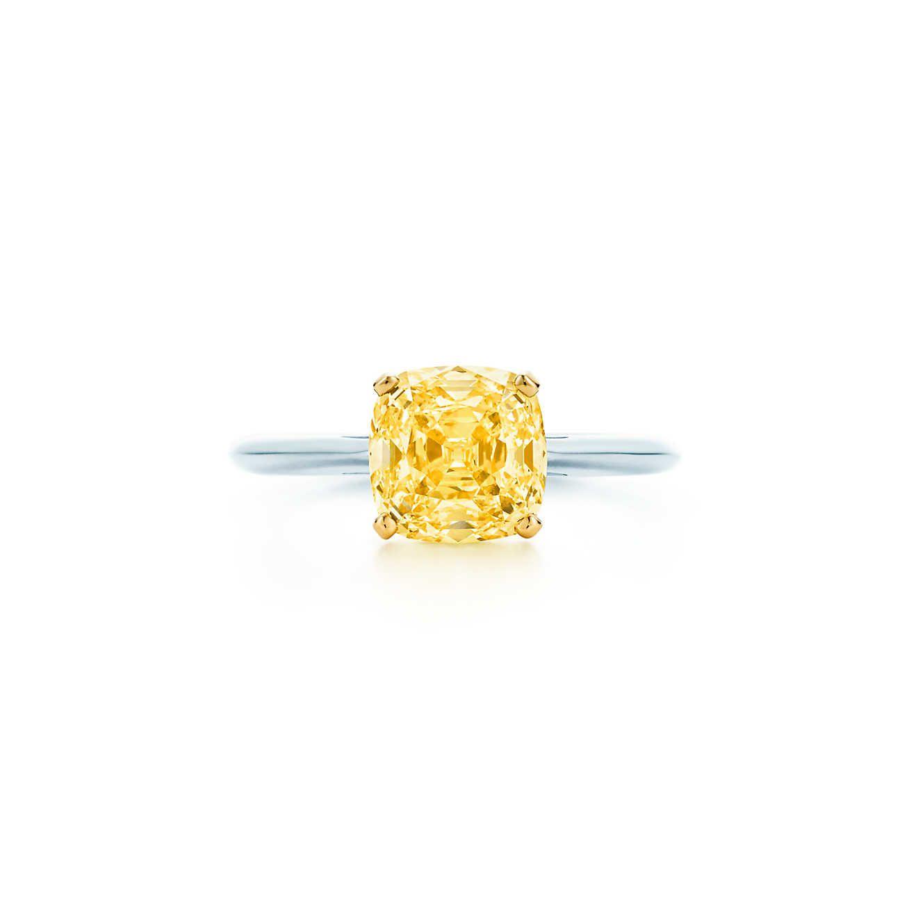 Classic Single Yellow Diamond Ring