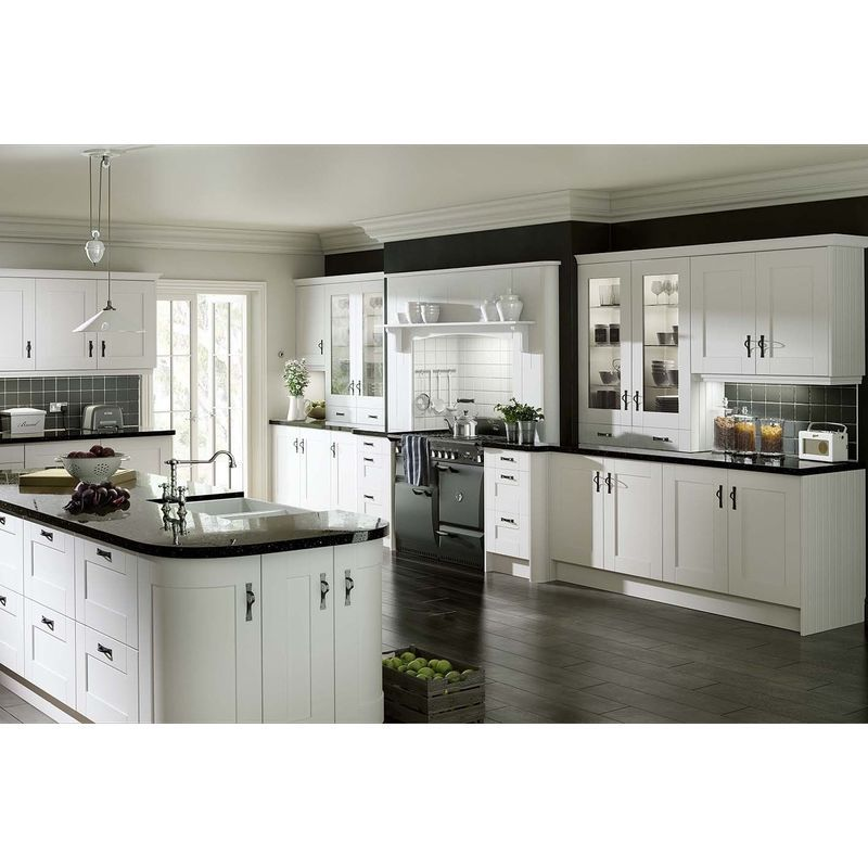 Gresham White Vinyl Wrapped Replacement Kitchen Cabinet From Kitchen