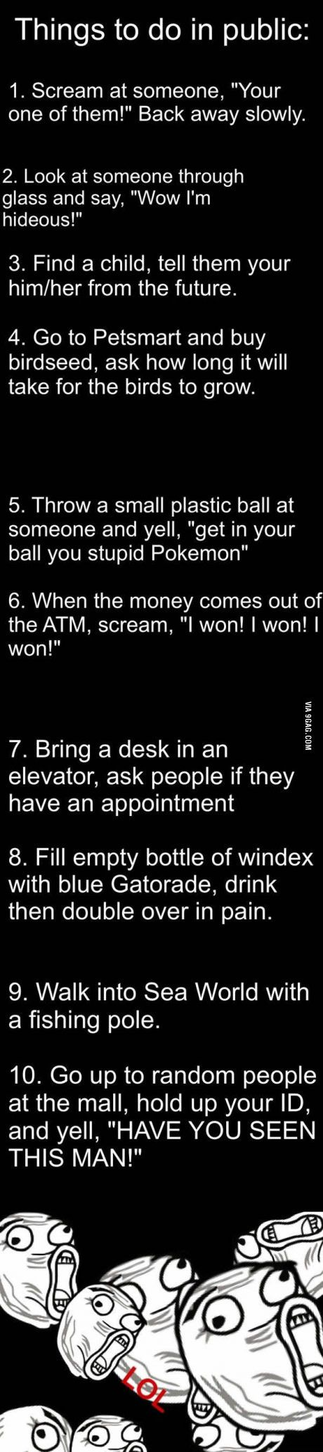 Things to do in public