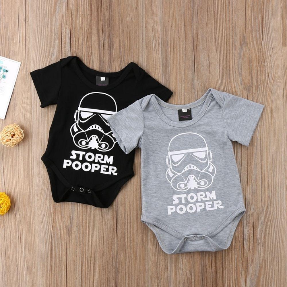 UK Newborn Kid Baby Boy Star Wars Romper Bodysuit Jumpsuit Clothes Cotton Outfit