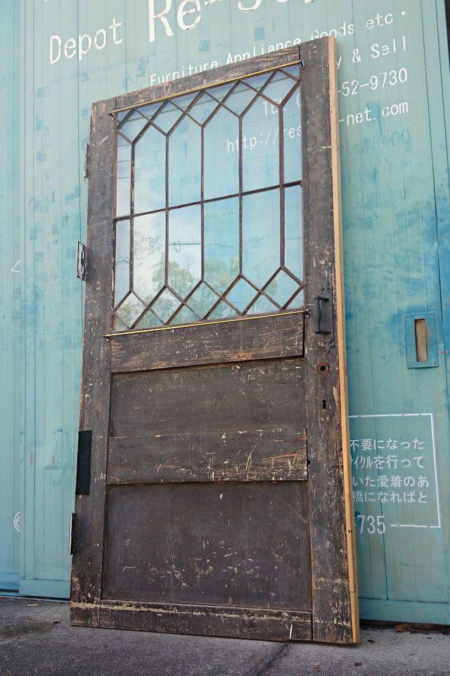 アンティーク 木製 建具 扉 リノベーション リフォーム ガラス窓 店舗