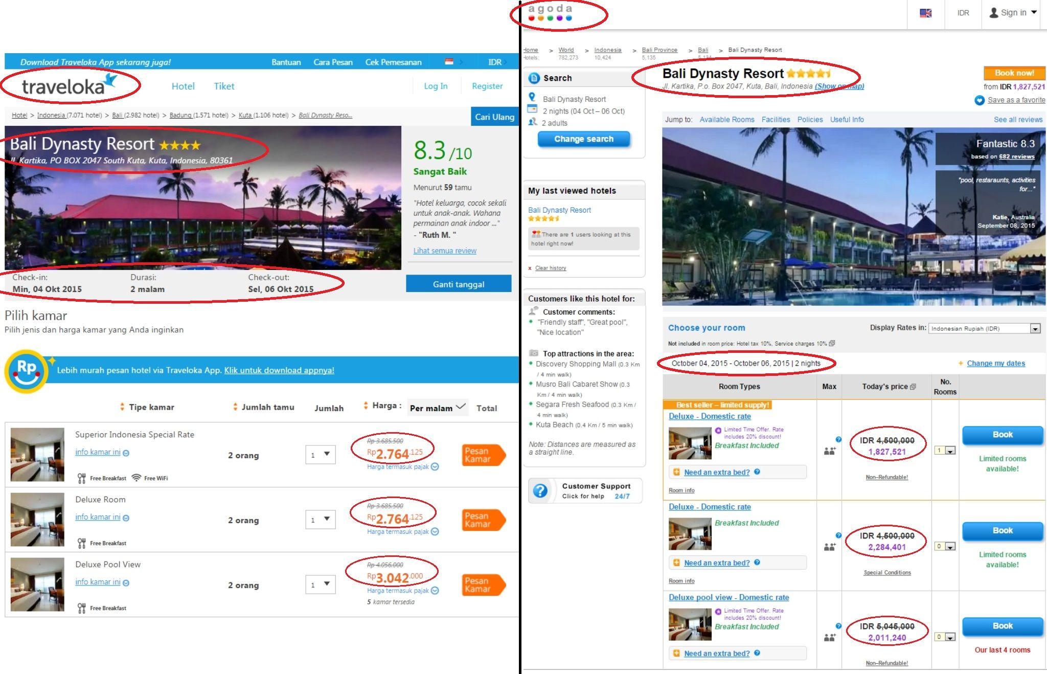 Mana Yang Lebih Murah Harga Boking Hotel Bali Dynasty Resort Kuta
