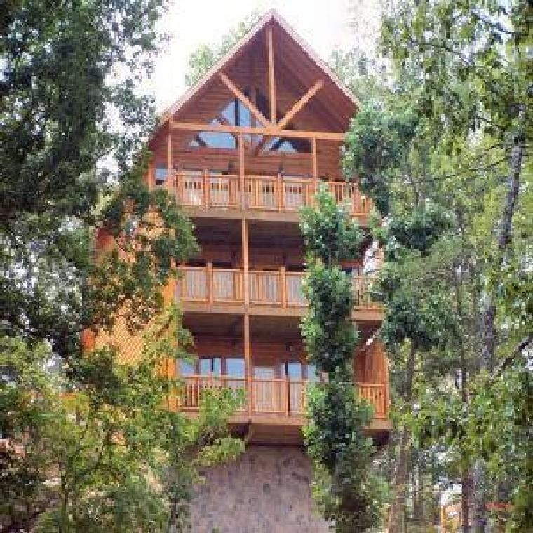 Pigeon Forge cabin rental - Wet N\' Wild Luxury Log Cabin with a ...