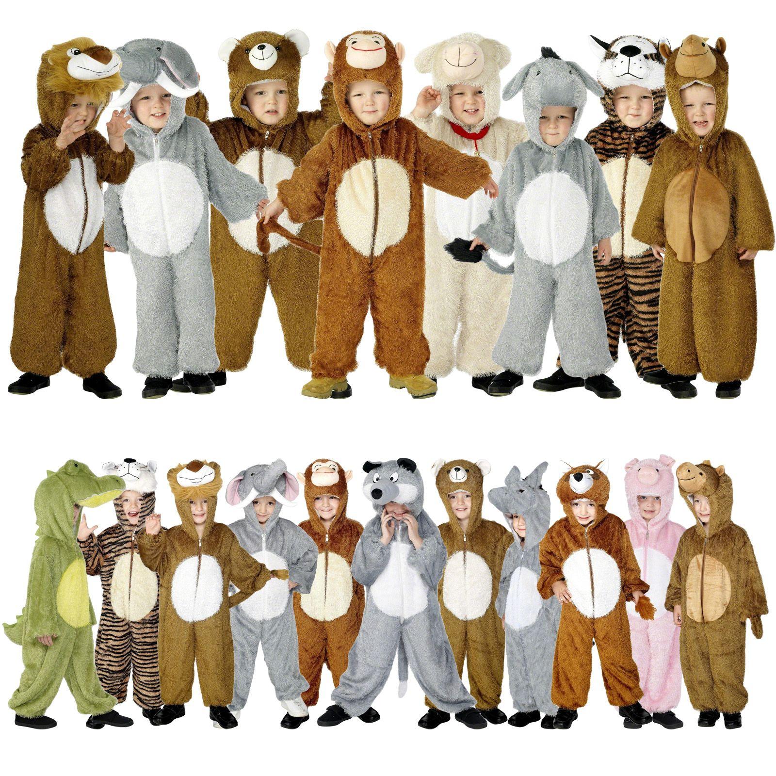 animal costumes kids fancy dress zoo farm jungle party kids