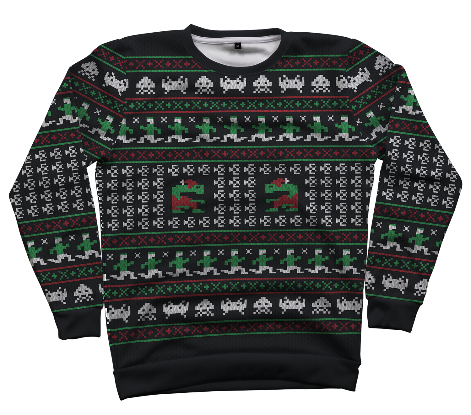 Games Of Christmas Past All Over Crewneck By RetroReview
