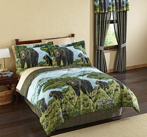 Http Archinetix Com Black Bear Woodland Comforter Set By Collections Etc P 5739 Html Bed Comforter Sets Comforter Sets Bed Linens Luxury
