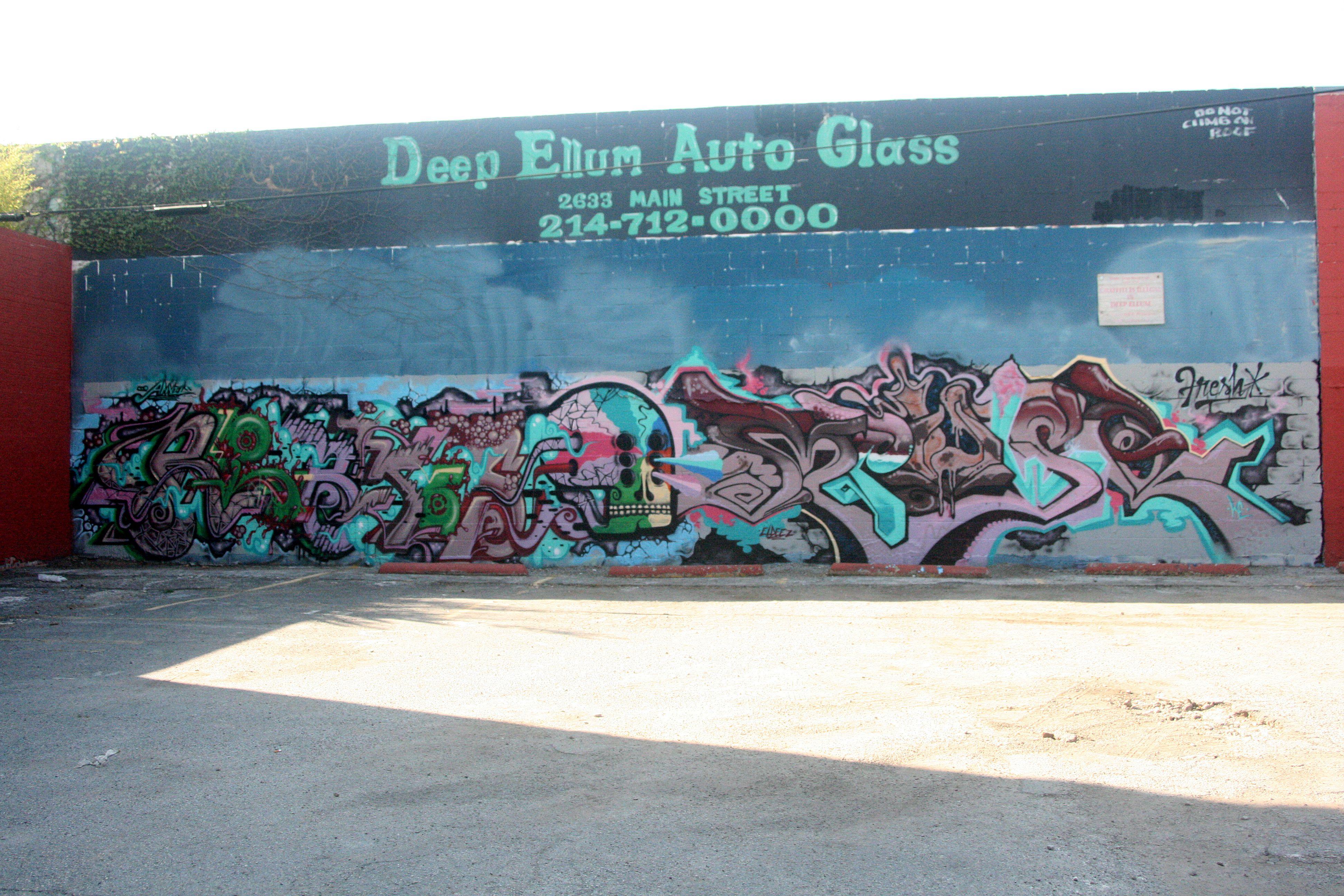 Deep ellum auto glass dallas street art street art