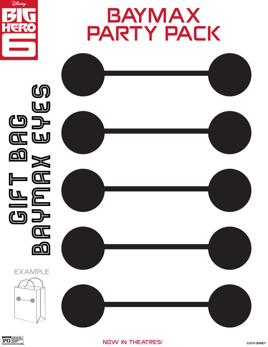 Gift Bag Baymax Eyes | Big Hero 6 | Pinterest | Baymax ...