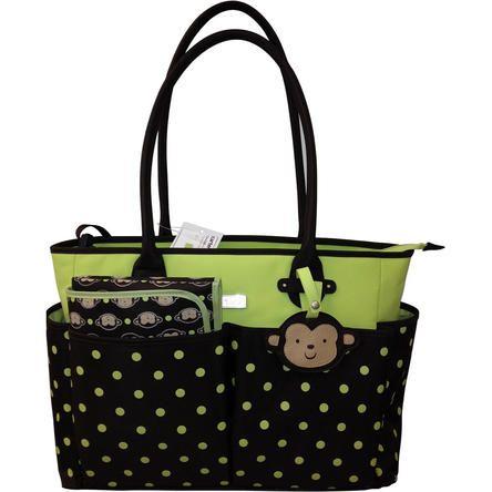 Carter's Carter's Monkey Tote Bag - Brown/Green Dot