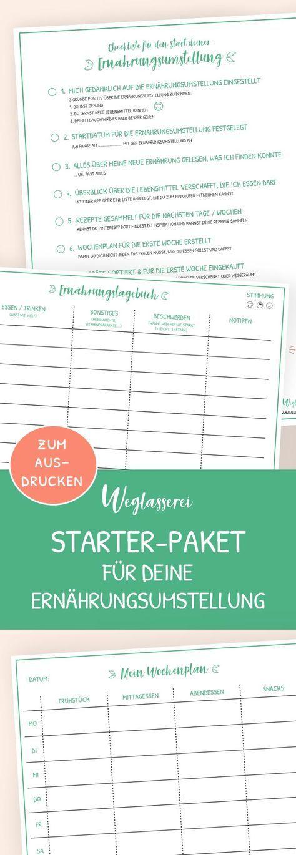 Das kostenlose Starter-Paket für eine einfache Ernährungsumstellung ...